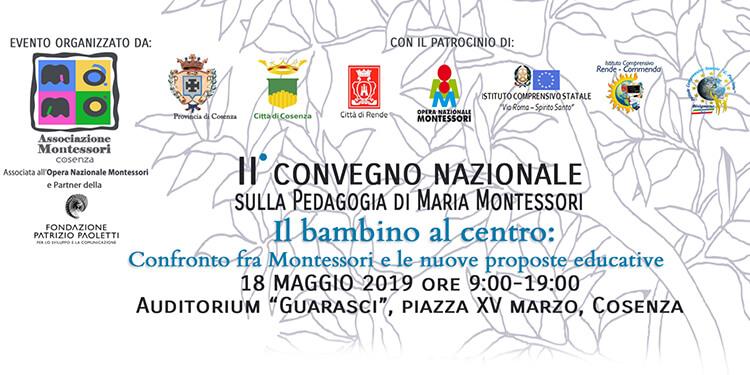 II Convegno Nazionale sulla pedagogia di Maria Montessori