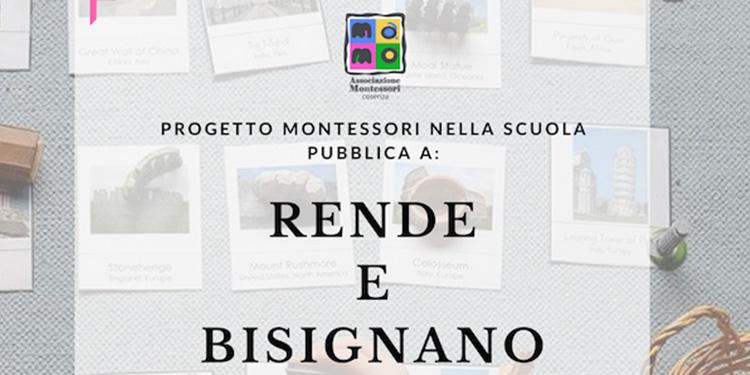 Progetto Montessori nella scuola pubblica a Rende e Bisignano